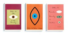 Mendelsund used the eye for a series of publications of Kafka's books and letters. From Cover by Peter Mendelsund, published by powerHouse Books