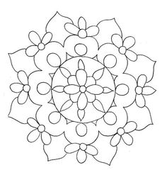 Awesome Most Popular Embroidery Patterns Ideas. Most Popular Embroidery Patterns Ideas. Mandala Coloring Pages, Coloring Book Pages, Printable Coloring Pages, Coloring Sheets, Mandala Pattern, Mandala Design, Mandala Art, Flower Mandala, Easy Mandala
