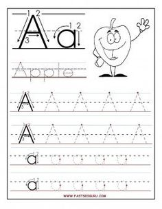 Printable letter A tracing worksheets for preschool - Printable Coloring Pages…
