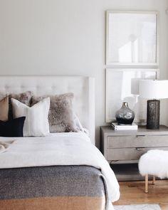 20 Most Popular Alice Lane Home Interior Design - Schlafzimmer Gray Bedroom, Modern Bedroom, Master Bedroom, Bedroom Colors, Bedroom Rustic, Pretty Bedroom, Contemporary Bedroom, Cream And Grey Bedroom, Bedroom Inspo Grey