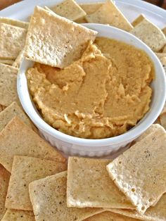 Fat Free Hummus. Serve a healthy appetizer or snack - gluten & dairy free.