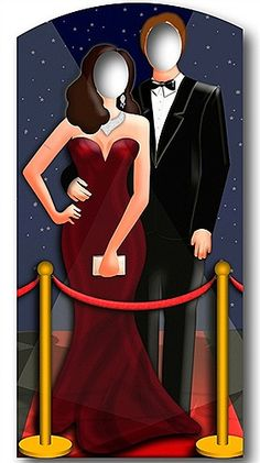 HOLLYWOOD STAND IN CUT OUT  Bring this Hollywood stand-in to a Hollywood or Red Carpet themed party to amaze your guests. Feel as if you've just got out of a limo, onto the red carpet and entering your way into somewhere spectacular!  Made from strengthened cardboard the stand-in is very durable and has an attached easel on the back for support.