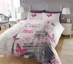 Pieridae Paris Romance Bedding Set Duvet Cover & Pillowcase Single Double Eiffel  | eBay