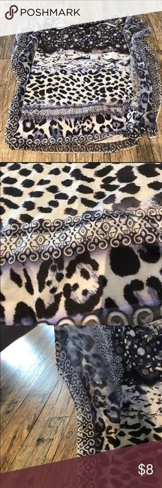 Lovely animal print flowy blouse. Large Re-Posh. Just didn't fit right. Body 96% Polyester, 4% Spandex Sleeves 100% polyester Style & Co Tops Blouses