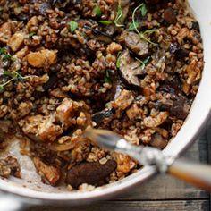 Zapiekanka z kurczakiem, kaszą gryczaną i grzybami