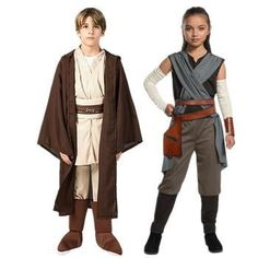 Star Wars Rey and Obi Wan Kenobi Cosplay For Kids