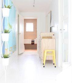 Apartamento decorado com cores frescas e brilhantes ~ Decoração e Ideias