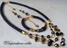 preview Rope Jewelry, Jewelry Sets, Jewelery, Jewelry Necklaces, Jewelry Making, Crystal Necklace, Beaded Necklace, Beaded Bracelets, Fashion Necklace