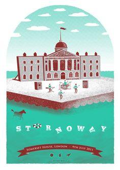 """""""Stornoway Silkscreen Concert Poster"""""""
