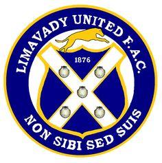 Limavady United F. 1876 from Northern Ireland Soccer Logo, Football Team Logos, Sports App, Sports Clubs, Northern Ireland Fc, Badges, Peterborough United, British Football, Soccer World