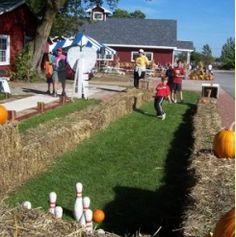 pumpkin bowling Halloween Party games