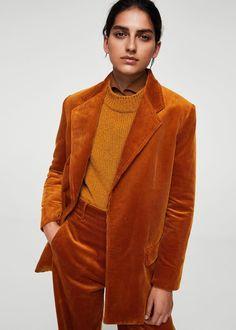Cord-blazer - Damen   MANGO Deutschland Größe L ...mit dem Cable Cord von Lebenskleidung super easy nachzumachen!