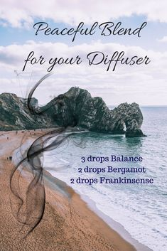 Diffuser blend to evoke peaceful feelings. The Balance blend, Frankincsense and Bergamot  will make you think about your favorite place to steal away to and relax. All Natural Oils will give you the peace of mind of not breathing in chemicals.  Remember - breathing it is ingesting - make sure your oils are pure like the ones I use!