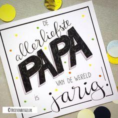 47 vind-ik-leuks, 1 reacties - Brievenbusgeluk (@brievenbusgeluk) op Instagram: '• De allerliefste papa • © . . #allerliefste #papa #jarig #vandaag #custommade #brievenbusgeluk…'