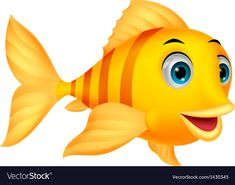 """Buy the royalty-free Stock vector """"Vector illustration of Cute fish cartoon"""" online ✓ All rights included ✓ High resolution vector file for print, web &. Cartoon Fish, Cartoon Butterfly, Underwater Art, Cute Fish, Baby Painting, Clip Art, Fish Art, Fish Fish, Cute Images"""