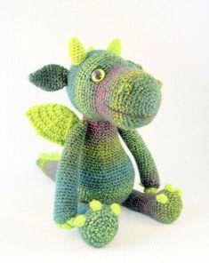 Finn's Pick: Cute and Cuddly Dragon Amigurumi – Get the Pattern! Finn's Pick: Cute and Cuddly Dragon Amigurumi - Get the Pattern! Love Knitting, Arm Knitting, Double Knitting, Knitting Ideas, Amigurumi Patterns, Crochet Patterns, Crochet Ideas, Crochet Tutorials, Amigurumi Toys