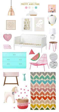 "Pretty & Pink Girls Bedroom Design | ❥""Hobby&Decor "" 
