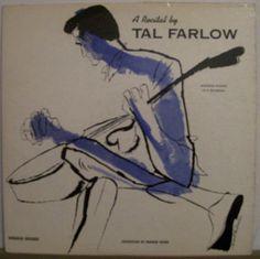 Tal Farlow, A Recital by.., label: Norgran MGN-1030 (1955) Design : David Stone Martin.