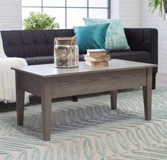 Gray Lift Top Coffee Table