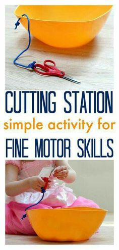 Cutting station for toddlers