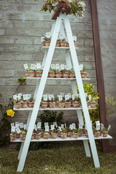 Succulent Wedding Party Favors Trendy Ideas Succulent Wedding Party Favors Trendy Ideas love how they used this ladder to hold cups 20 Rustic Vintage Ladder Wedding Decoration Ideas Creative Wedding Favors, Inexpensive Wedding Favors, Edible Wedding Favors, Wedding Gifts For Guests, Wedding Party Favors, Wedding Decorations, Succulent Party Favors, Wedding Giveaways, Guest Gifts