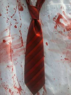 Shaun of the Dead by ZombieBrideuk Zombie Apocalypse Kit, Halloween Fancy Dress, Perfect Christmas Gifts, Father And Son, Red Stripes, Cosplay Costumes, Films, Wedding Ideas, Tie