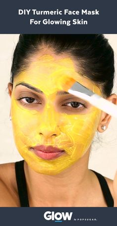 Better than botox no needles 1tbsp corn starch mix in 12 make this three ingredient diy turmeric face mask for clear glowing skin solutioingenieria Choice Image
