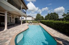Private pool and spillover spa with beautiful golf course view ...ALL STAR Vacation Homes featured pool in Orlando, Florida