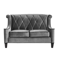 Barrister Loveseat in Gray.