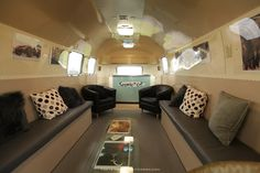 AIRSTREAM Media lounge 34' hire for trade shows , Events Orlando, Miami, Jacksonville Facebook The Trailer Company Www.Thetrailercompany.com
