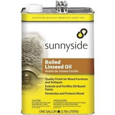 Sunnyside Corp. Boiled Linseed Oil 872G1S Unit: GAL, Grey metal