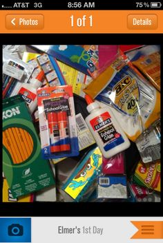 Shopping for school supply donations for the Southwest Mississippi Children's Advocacy Center for Elmer's First Day Of School, Back To School, Elmer's Glue, Office And School Supplies, Mississippi, Crafts For Kids, Join, Inspired, Bag