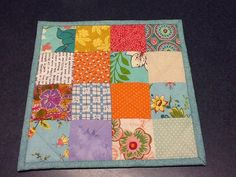 Handmade Quilted Spring Patchwork Mug Rug  Candle by Clothstitched