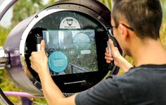 Augmented Reality scope at Marina Gardens by the Bay.