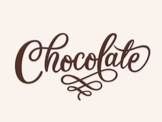 Chocolate by Ian Barnard Chocolate Typography, Chocolate Font, Chocolate Letters, Chocolate Quotes, Chocolate Dreams, Chocolate Packaging, Chocolate Shop, Melting Chocolate, Lettering Design