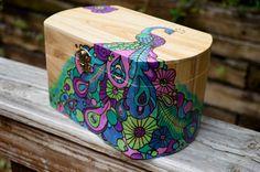 Jewelry Trinket Keepsake Box With Pyrography Wood by artyoucanuse