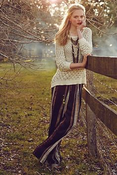 Dot-Dot Pullover #anthropologie - this whole outfit, I'm obsessed!!!! Pair with my toms wedges. Also love the Orange