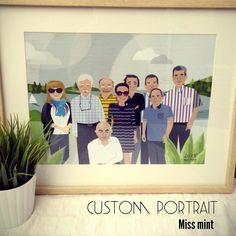 Miss Mint   Ilustraciones personalizadas para regalo de jubilacion. #regalospersonaluzados #customportrais