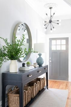 Classic & Sophisticated San Francisco Home Thats Also Kid-Friendly HAVEN Entryway Decor Ideas Classic Francisco HAVEN Home Kidfriendly San Sophisticated Entrance Hall Decor, House Entrance, Entryway Decor, Entryway Ideas, Entryway Table Decorations, Foyer Table Decor, Entryway Console Table, Entrance Halls, Hallway Ideas