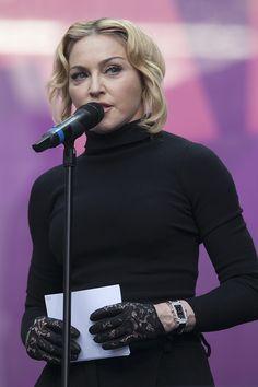 Madonna talks at the Sound for Change concert a Twickenham Stadium, 01/06/13 #madonna #chimeforchange photo copyright John Rahim