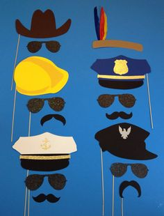 This listing is for a Village People Themed 15 piece set. This fun set is great for all occasions! ALL PROPS WILL COME ATTACHED TO WOODEN