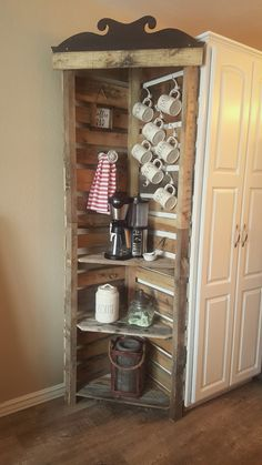Corner Coffee Bar. This shows you don't have to go all out when you create your own coffee bar.
