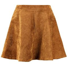 Remi Cord Full Skater Skirt (€30) ❤ liked on Polyvore featuring skirts, bottoms, saias, flared skirt, a line flared skirt, skater skirt, brown skater skirt and cord skirt