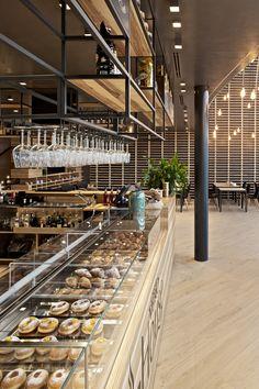 Bakery design, restaurant design, restaurant bar, restaurant exterior, shop i Bakery Interior, Coffee Shop Interior Design, Coffee Shop Design, Restaurant Interior Design, Restaurant Exterior, Bakery Shop Design, Cafe Design, Design Design, Modern Bakery