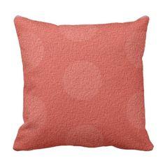 """ Trudy "" II  Peach 50's Lady Throw Pillow"