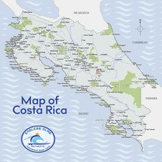 Where is Costa Rica? If you're looking for Costa Rica on a map or globe, find the narrow isthmus of land that connects Central America to South America. Montezuma, Vacation Places, Vacation Spots, Vacation Ideas, Vacations, Honduras, San Jose, Belize, Panama