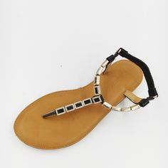 34.00$  Watch here - http://alijld.shopchina.info/1/go.php?t=32805469824 - 2017 Thong Flat Sandals Flip Flop Shoes Gold Black Cowhide Genuine Leather Summer Flat Shoes  #aliexpressideas