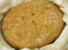 Taste of Beirut – Holy Bread (Qurban) Lebanese Desserts, Lebanese Recipes, Greek Recipes, Holy Bread Recipe, Greek Bread, Armenian Recipes, Bread Board, Middle Eastern Recipes, Arabic Food