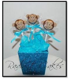 Monkey Cake Pops by RadiantCakes on Etsy, $30.00
