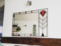 Your place to buy and sell all things handmade Art Deco Mirror, Led Mirror, Mirror Brackets, Mantel Mirrors, Custom Mirrors, Art Deco Period, Lloyd Wright, Traditional House, Modern